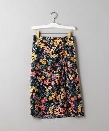 UBCS 花朵印花 不對稱長裙