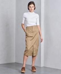 UWSC 斜紋布長版窄裙