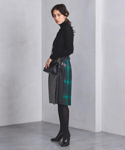 <O'NEIL of DUBLIN>粗花呢拼接裙裝