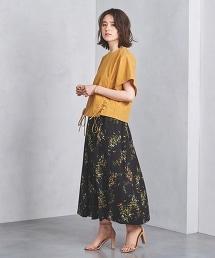 特別訂製<SACRA>花朵印花褶裙