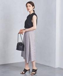 UWSC 直條紋荷葉裙