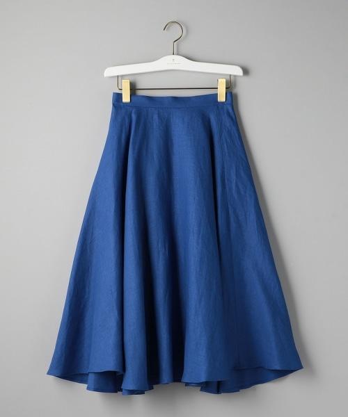 UWSC 亞麻荷葉裙