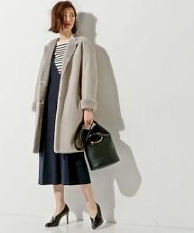 UBMF 正反兩穿素色羊毛大衣