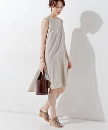 UWMF 泡泡紗無袖荷葉裙洋裝