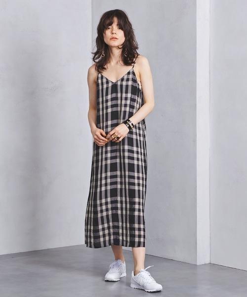 UGMSC 方格格紋 吊帶洋裝◆
