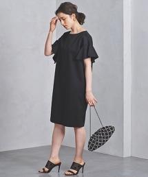 UBCS 方形荷葉袖連身裙