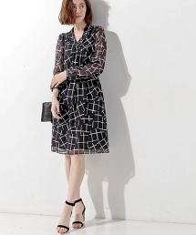 UBCE STICK 印花洋裝◆