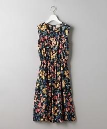 UBCS 花朵印花 無袖連身洋裝