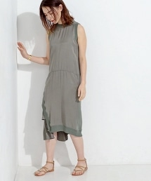 <Clu> 側面飾邊無袖連身裙