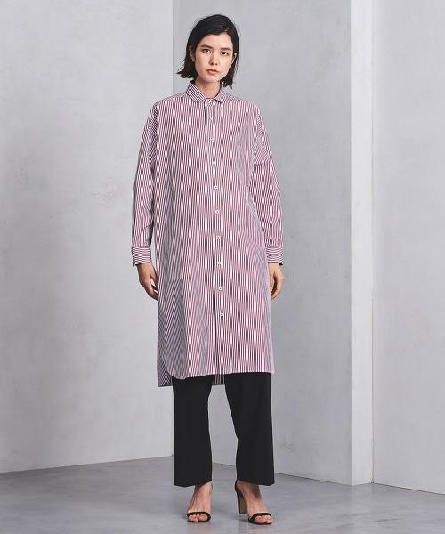 特別訂製<TICCA> 倫敦條紋襯衫洋裝