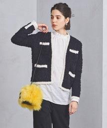 UBCB 線條拼接針織對襟外套