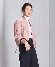 <beautiful people>絲絨粉色MA-1外套