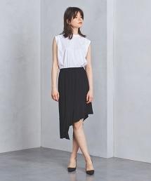<DESIGNERS REMIX>條紋不規則中長裙
