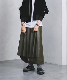 <near.nippon>拼接不規則褶裙