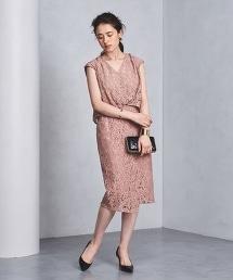 【特別訂製】<FLICKA>蕾絲V領洋裝