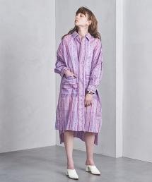 <near.nippon>圓點條紋長版襯衫洋裝