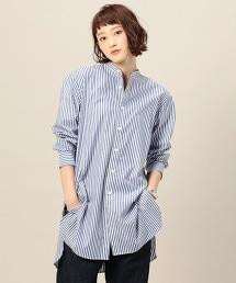 BY 棉質條紋立領襯衫