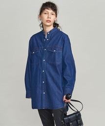 BY 粗藍布寬版襯衫