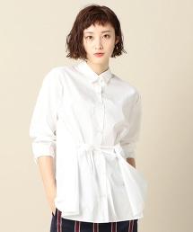 BY 棉質蝴蝶結荷葉版型襯衫