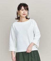 BY 波紋編船領8分袖上衣