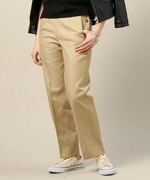 BY 棉質嗶嘰軍裝風錐形褲