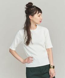 BY 羅紋圓領5分袖T恤