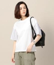 BY 棉質直條紋袖T恤
