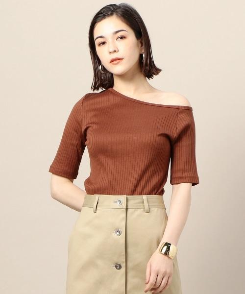 BY 純棉 羅紋 單肩T恤