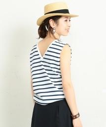 【特別訂製商品】<Le minor>∴背面V領無袖T恤