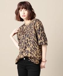 <VOTE MAKE NEW CLOTHES>豹紋寬鬆T恤