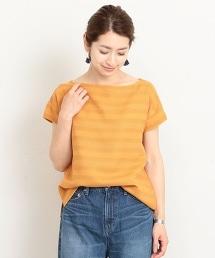 BY 橫條紋緹花短袖T恤