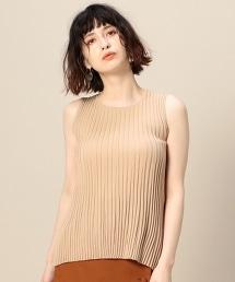 BY 打摺羅紋無袖針織上衣