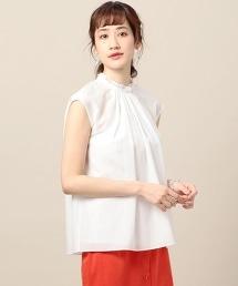 BY∴ 棉絲混紡 皺褶 連肩袖 襯衫 -可手洗-