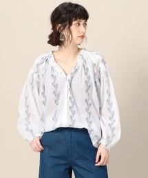 <Louizon>羽毛印花中長版上衣