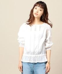 BY 全棉細布×蕾絲7分袖罩衫