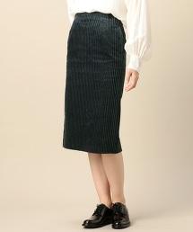 BY 寬幅燈芯絨窄裙