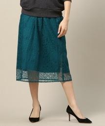 BY 蕾絲褶皺窄裙