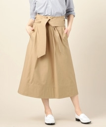 BY 繫帶式腰帶裝飾裙子