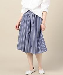 BY 高密度平織棉抓褶喇叭裙