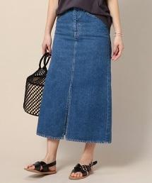 BY 12盎司丹寧長版窄裙