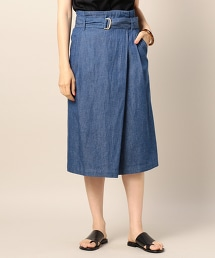 BY 單寧綁帶窄裙