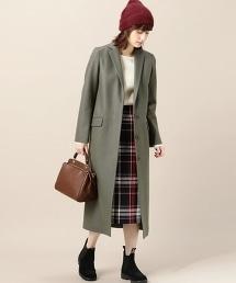 BY 羊毛修身長款大衣