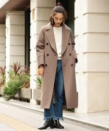 BY∴ HAMILTON WOOL MIX 雙排釦長大衣