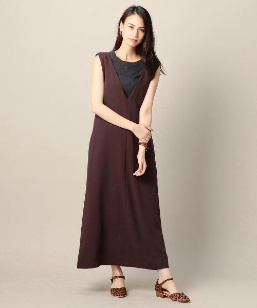 BY 雙層織物背心裙