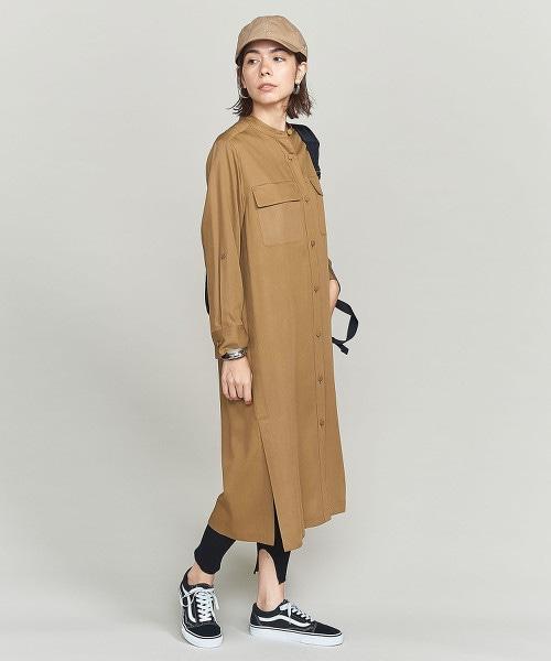 BY 斜紋織長版襯衫洋裝