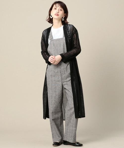 BY 條紋蕾絲長版洋裝