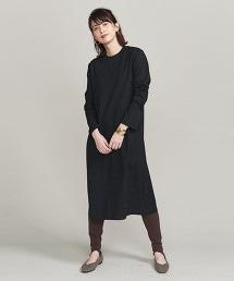 BY 純棉開衩長袖洋裝