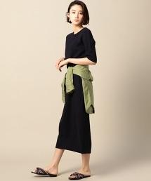 BY 5分袖長版連身裙