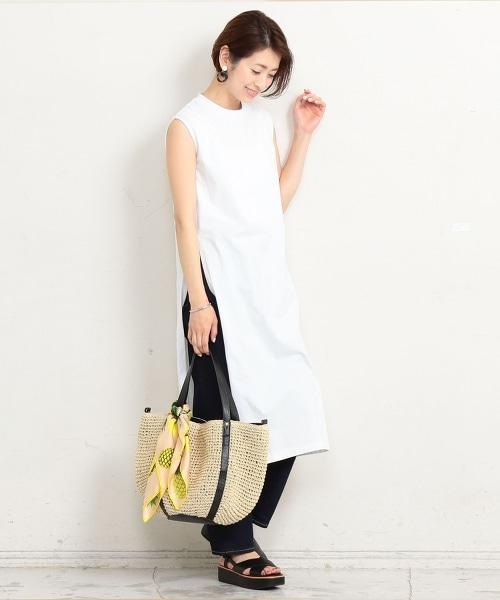 BY∴ 棉質 開岔 無袖 連身洋裝