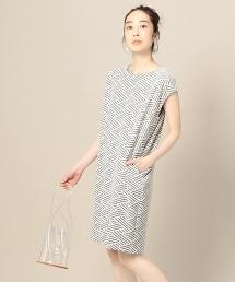 BY 鋸齒提花繭型連衣裙